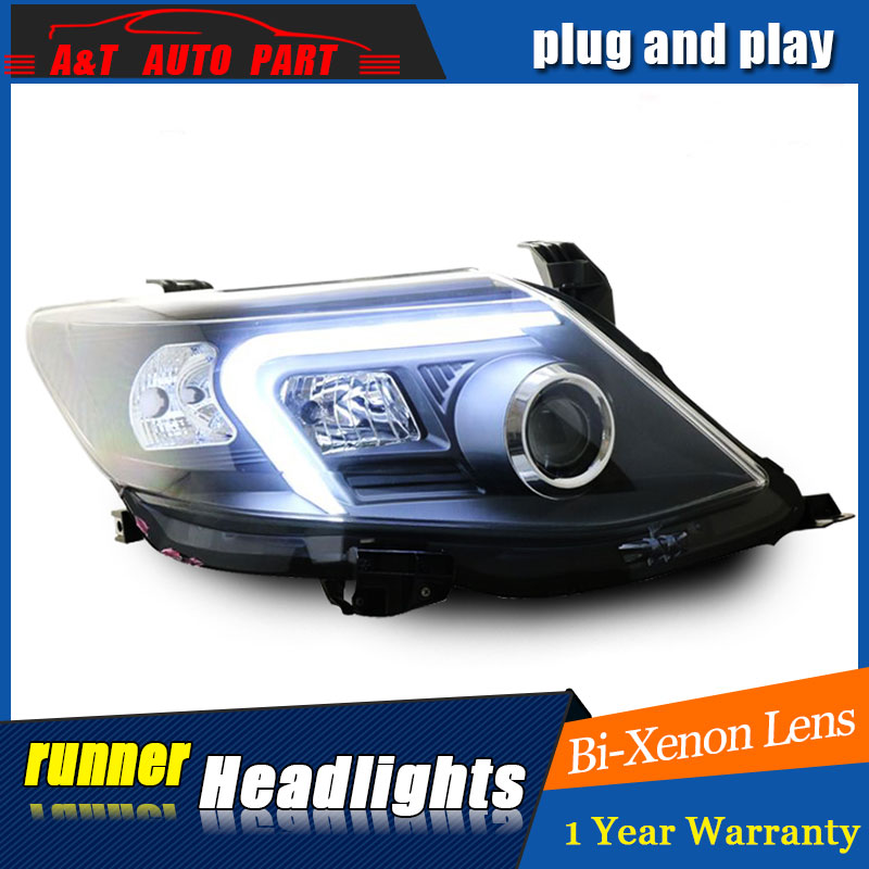 Auto Lighting Style LED Head Lamp for Toyota Fortuner headlights for Fortuner angle eyes drl H7 hid Bi-Xenon Lens low beam auto clud style led head lamp for benz w163 ml320 ml280 ml350 ml430 led headlights signal led drl hid bi xenon lens low beam