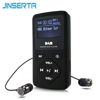 JINSERTA Portable DAB/DAB+ Pocket Digital Radio Receiver Bluetooth MP3 Player Support TF Card Play with Earphone