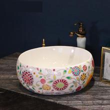 Bathroom Cloakroom Europe Vintage Style Art Wash Basin Ceramic Counter Top  Wash Basin Bathroom Sinks Vintage