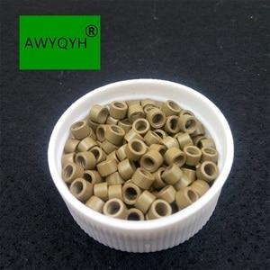 Image 4 - 10000 sztuk 4mm 4.0mm Aluminium do przedłużania włosów mikro pierścienie mikrolinki koraliki linki ze śrubami 1 # czarny