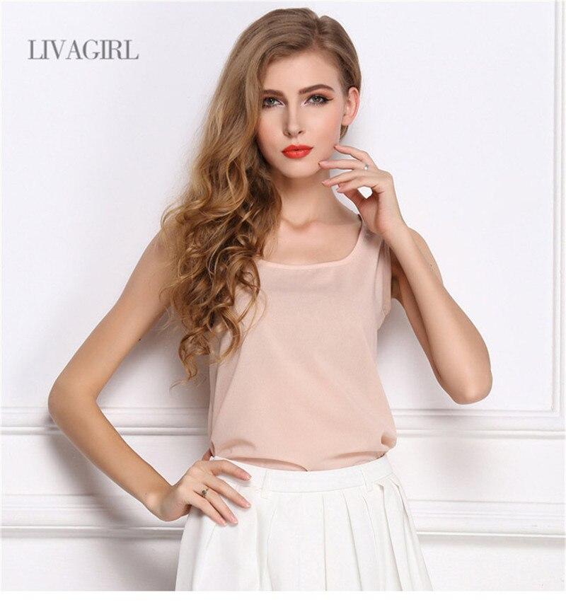 Summer style Multiple Women Tank Tops Brand Good Quality Women Chiffon Sleeveless Tshirt Female Shirt blouse