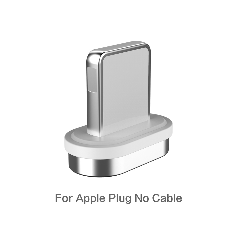 FLOVEME Магнитный кабель Micro usb type C для iPhone Lightning Кабель м 1 м 3A Быстрая зарядка USB-C type-C магнит зарядное устройство кабель для телефона магнитная зарядка магнитный usb кабель провод для зарядки шнур - Цвет: For Apple Plug