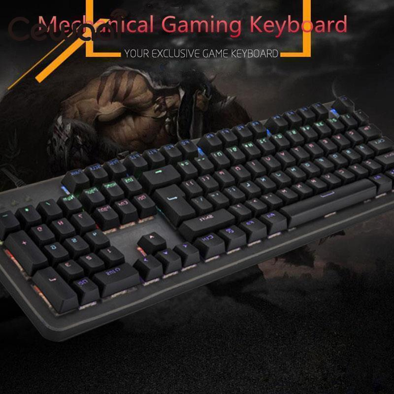 2018 Hot Sale Waterproof Keypad USB Mechanical Keyboard 104 Key LED Backlit Blue Switches/Black Switches Tactile Gaming Keyboard цены