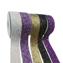 50 ярдов в рулоне хорошего качества 1,5 ''38 мм ткань Лоскутная Блестящая лента для бантов DIY украшения, принимаем Оптовые и пользовательские