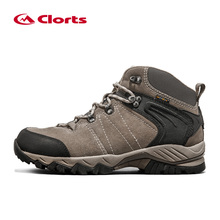 Clorts Waterproof Hiking Boots Men Trekking Shoes Suede Leather Outdoor Shoes Wear Resistant Mountain Shoes HKM