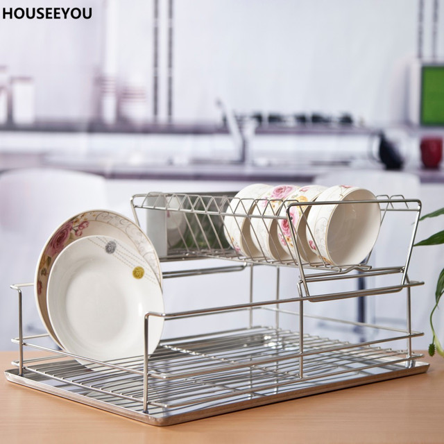 Dish Drying Rack Kitchenware Bowl Tray Kitchen Storage Support ...