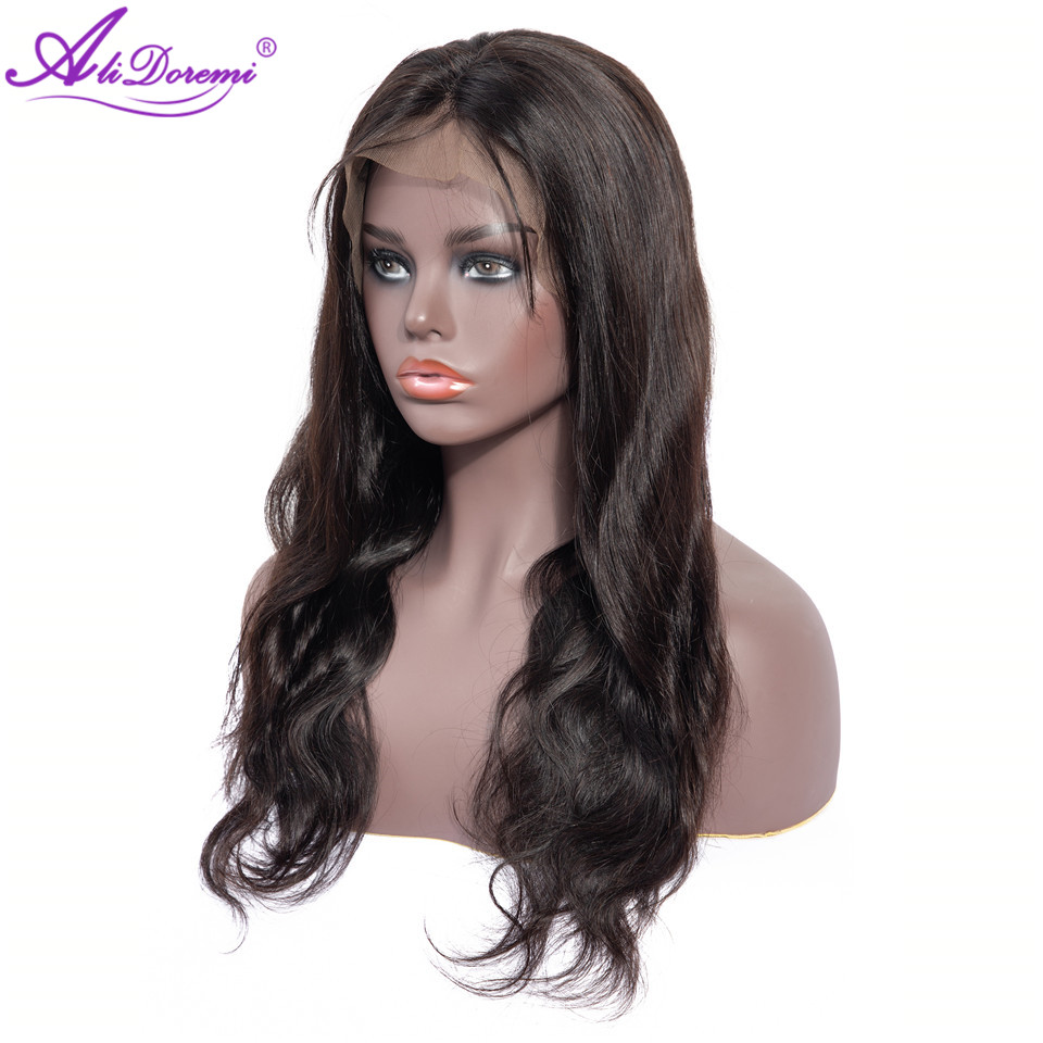 Alidoremi Brazilian Body Wave 13*4 Lace Front Human Hair Wigs 150% Density 8-26inch Wigs non Remy Hair