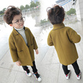 Kids Outwear Autumn Winter Girls Coats and Jackets Wool & Blends Boys Jacket Casual O-Neck Solid Children Outerwear Boy Clothes