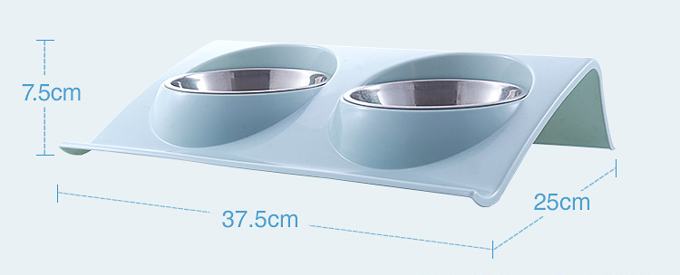 DogsMall-International | Stainless Steel Double Dog works as a set with food or water for oneBowls
