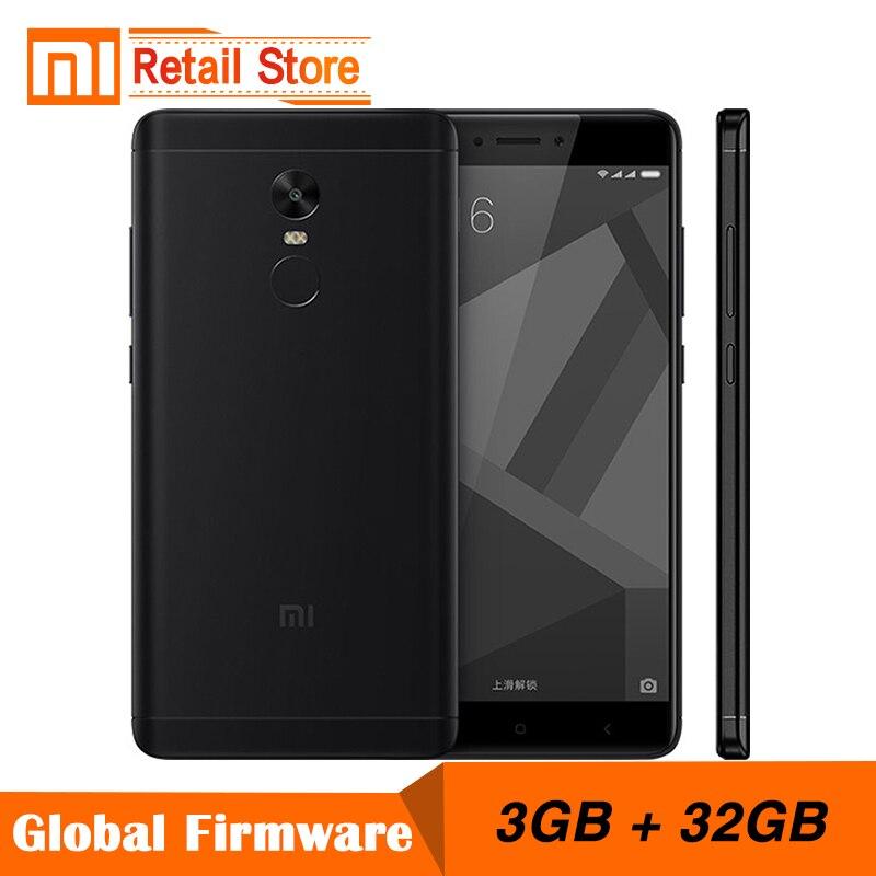 Original Xiaomi Redmi Note 4X 3GB 32GB Mobile Phone 4 X Snapdragon 625 Octa Core Smartphone 13.0MP 5.5 Fingerprint ID 4G LTE