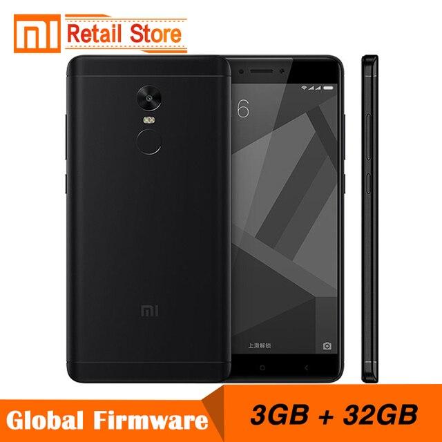 """Оригинальный Xiaomi Redmi Note 4x3 ГБ 32 ГБ мобильный телефон 4 x Snapdragon 625 восьмиядерный смартфон 13.0MP 5.5 """"отпечатков пальцев ID 4 г LTE"""