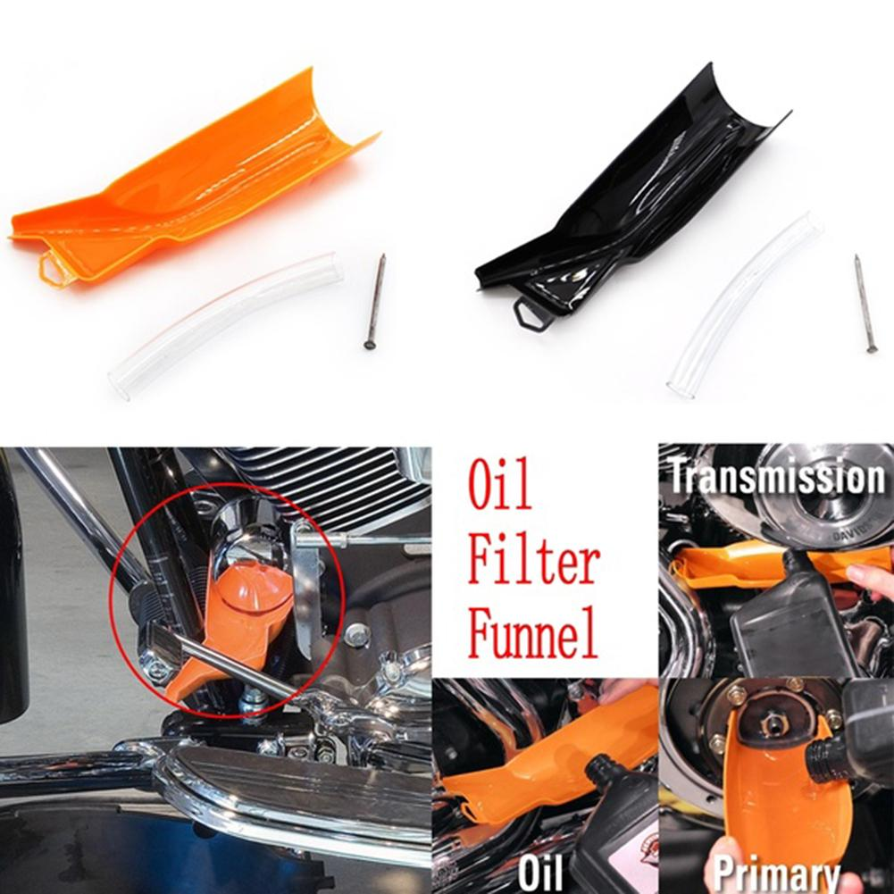 Car Motorcycle Oil Filter Funnel Primary Case Oil Fill Funnel For Harley Touring Dyna Softail Sportster
