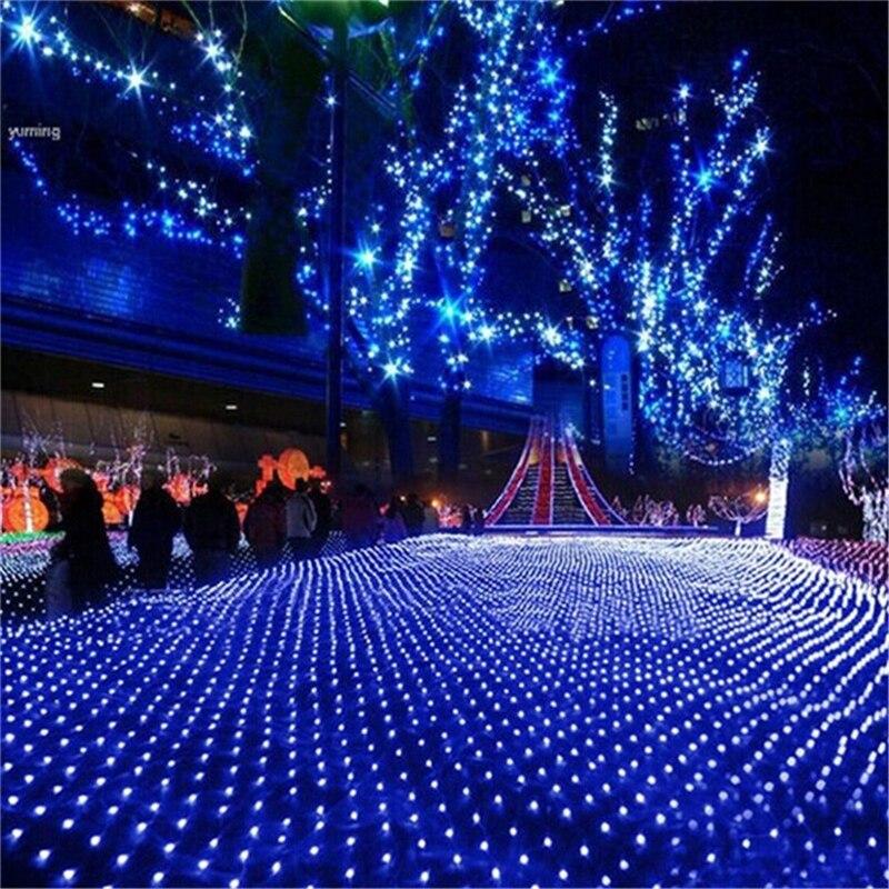 EU220V 3 M x 2 M 200 Leds LED Luzes de Teto Rede De Pesca Rede de Malha Corda de Fadas para Festa de Natal decoração de casamento Ao Ar Livre