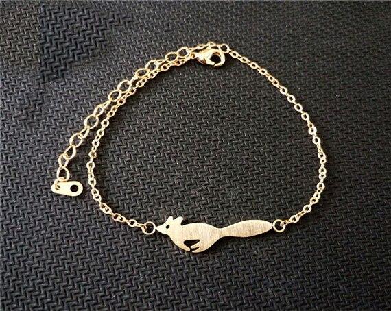 Bransoletka minimalistyczna gold and silver fox