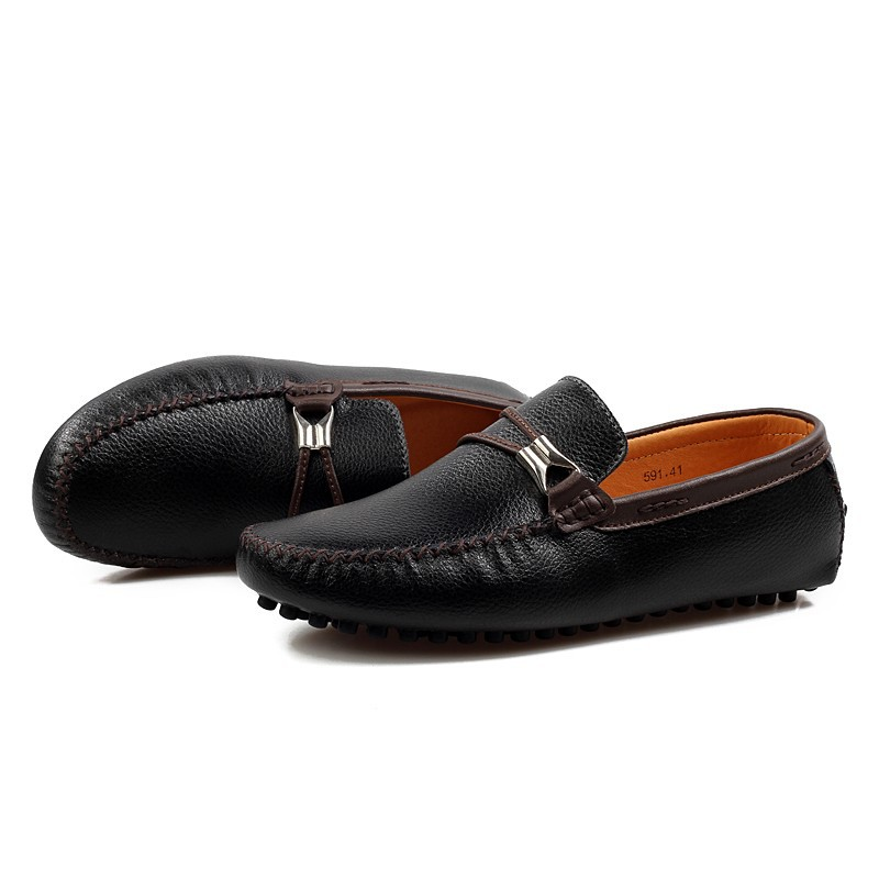 2016 New Arrival Casual Mens Shoes Genuine Leather Men Loafers Moccasins Fashion Low Slip On Men Flats Shoes Zapatos Hombre casual shoes 2016 fashion genuine leather loafers moccasins slip on flats shoes black golden sliver 3 colors