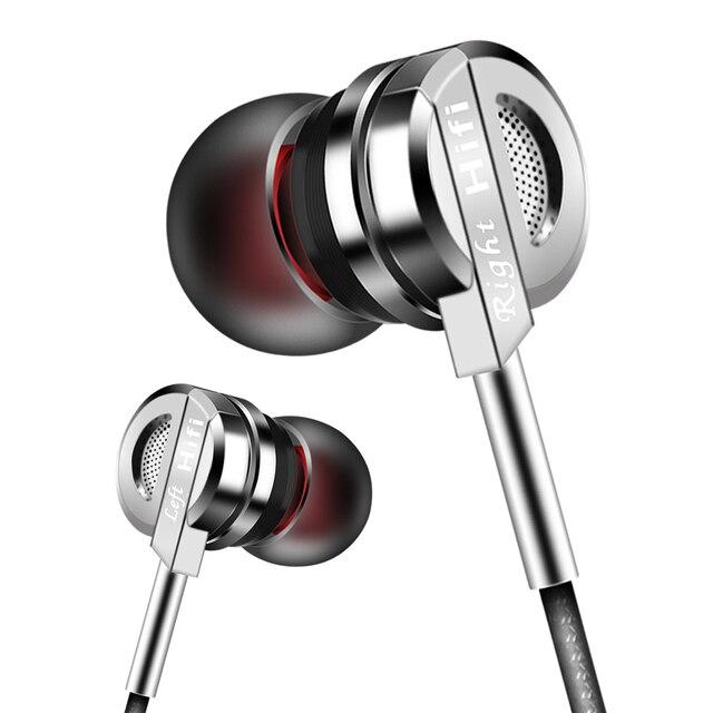 PTM DS5 In-Ear Écouteurs Boîtier En Alliage de Zinc Métal Basse Casque Hifi écouteurs Marque Écouteurs Pour Téléphone iPhone 6 6 S Xiaomi avec Mic