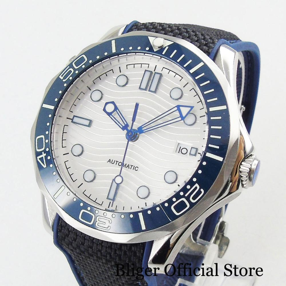 BLIGER Super Luminous Automatic Men's Watch With Date Window Sapphire Glass 41mm Time Watch