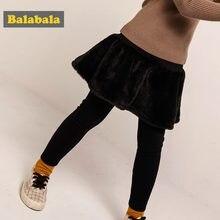 9a07507bb Balabala Todder Girl Fleece-Lined Leggings with Rabbit Fur Flared Skirt  Ribbed Waistband for Children Kids Girl Winter Outfits
