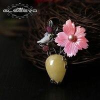 GLSEEVO натуральный пчелиный воск пресноводный жемчуг queen Shell брошь цветок контакты Bird Броши для Для женщин двойной Применение Роскошные ювели