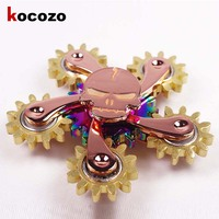 Copper Edition Gear Linkage EDC Spinner Fidgets Hand Spinner For Autism And ADHD Rotation Spinning Top