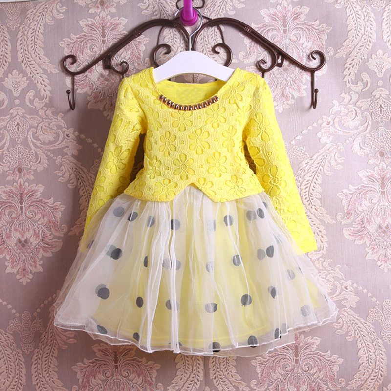 new Cute Baby Girl Dress Cotton Girls Dresses Casual Kids Autumn Spring Clothing long sleeve yellow spring autumn cute baby kids girls party dress kids clothes cotton toddler girl clothing long sleeve baby girl princess dress