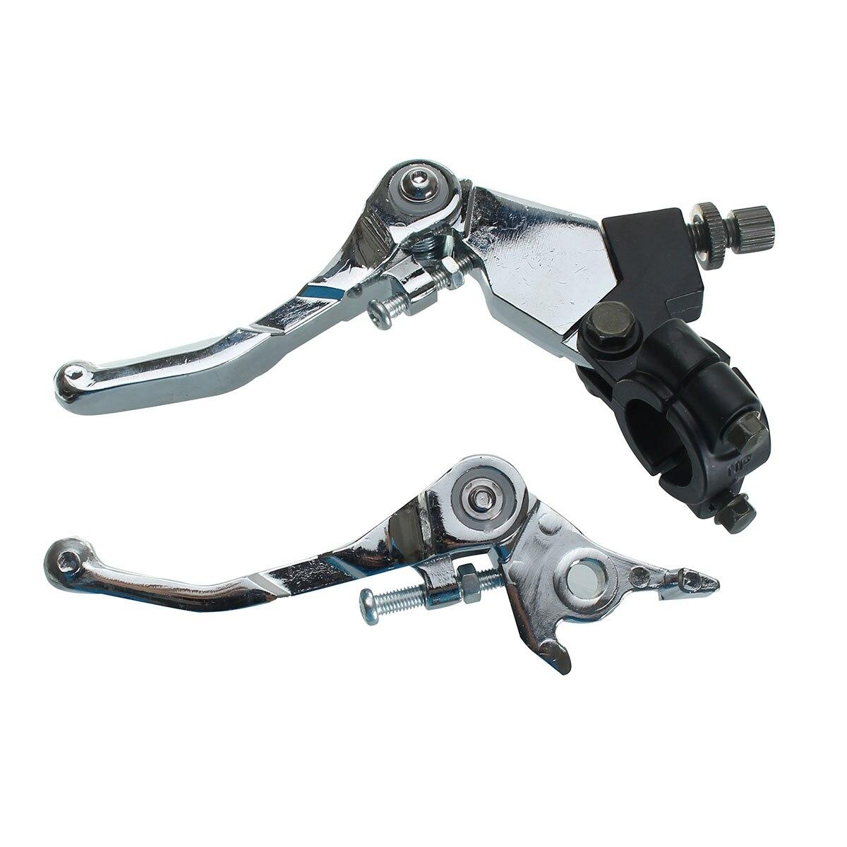 1 пара питбайк сплава складной оснастки тормоз сцепление рычаг сцепления комплект воздух 110cc 125cc мотоцикла смещения 140cc 160cc хром
