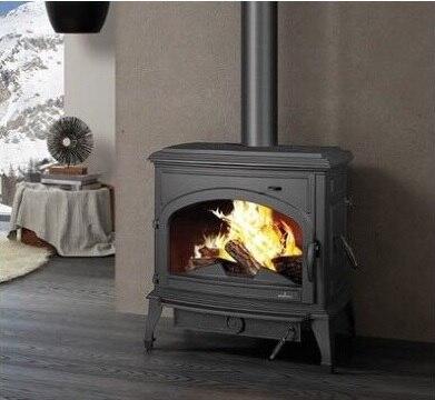 Poêle en fonte 150 kg/cheminée à bois de 73 cm de haut/écran d'étincelle de verre allemand/tuyau de poêle 6