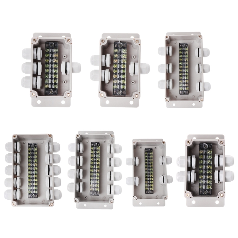 ABS Waterproof Junction Boxes Outdoor Distribution Connection Indoor Monitoring Box Electric Fence Case With Cable Glands цена