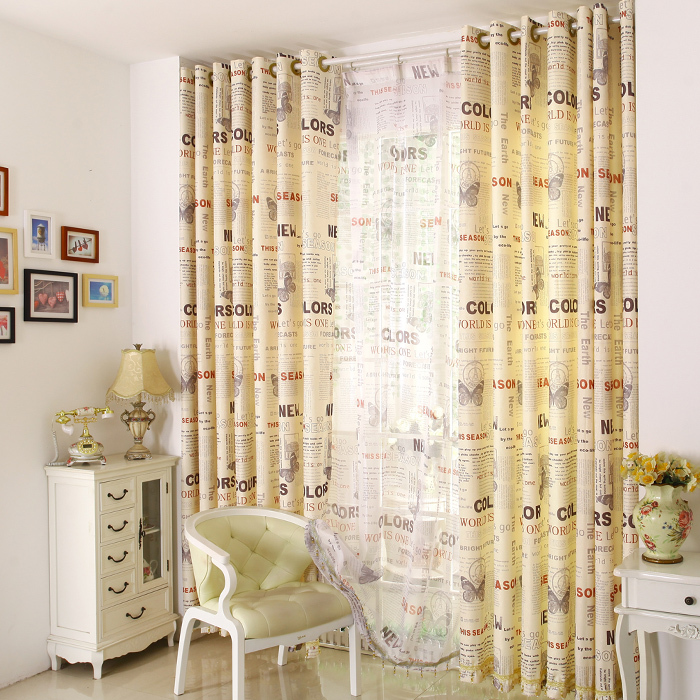 British Style High End Bead Curtains Custom UK Living Room Bedroom For Windows