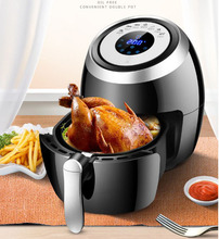 Купить с кэшбэком 3.6L Automatic large capacity air fryer household chips nuggets mozzarella stick fish maker  oven Intelligent touch screen