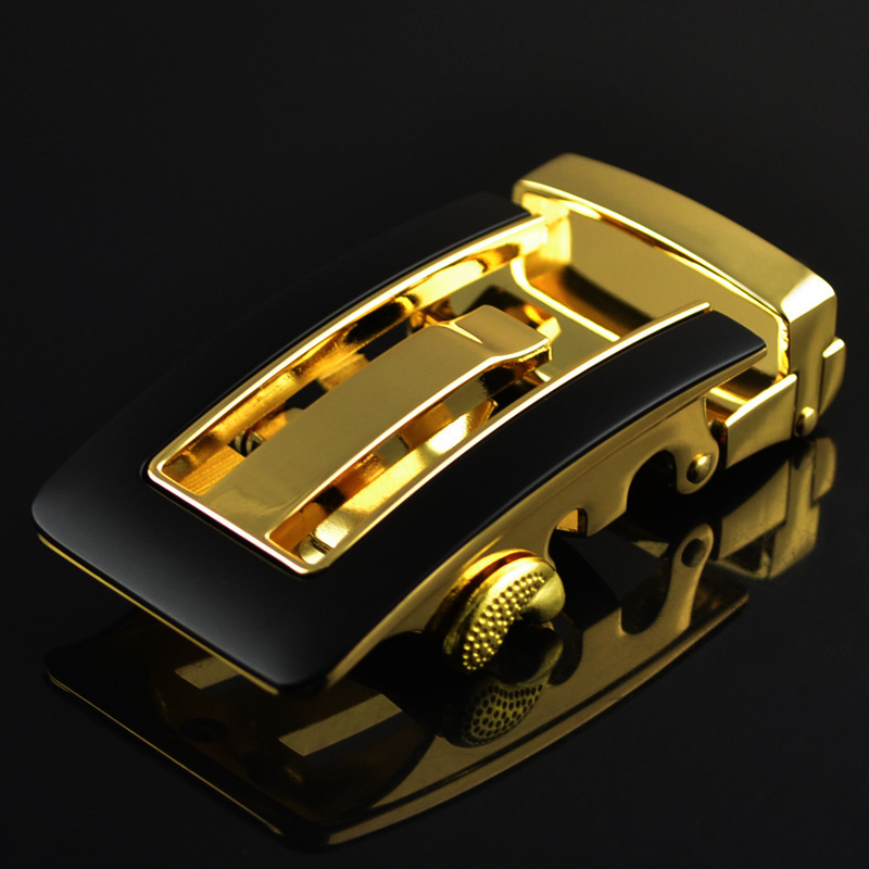 Fashion Men's Business Alloy Automatic Buckle Unique Men Plaque Belt Buckles For3.5cm Ratchet Men Apparel Accessories LY125-0355