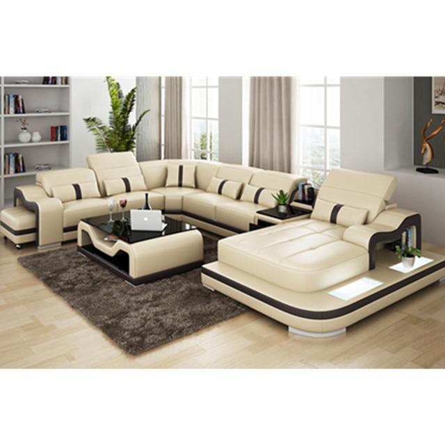 Sof de cuero italiano para sala de estar de cuero negro for Muebles industriales sala de estar