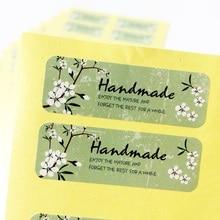 1200 Teile/los Frische Stil Blume Hand Made Dichtung Aufkleber Hohe Qualität Handgemachte Geschenk Label Aufkleber großhandel