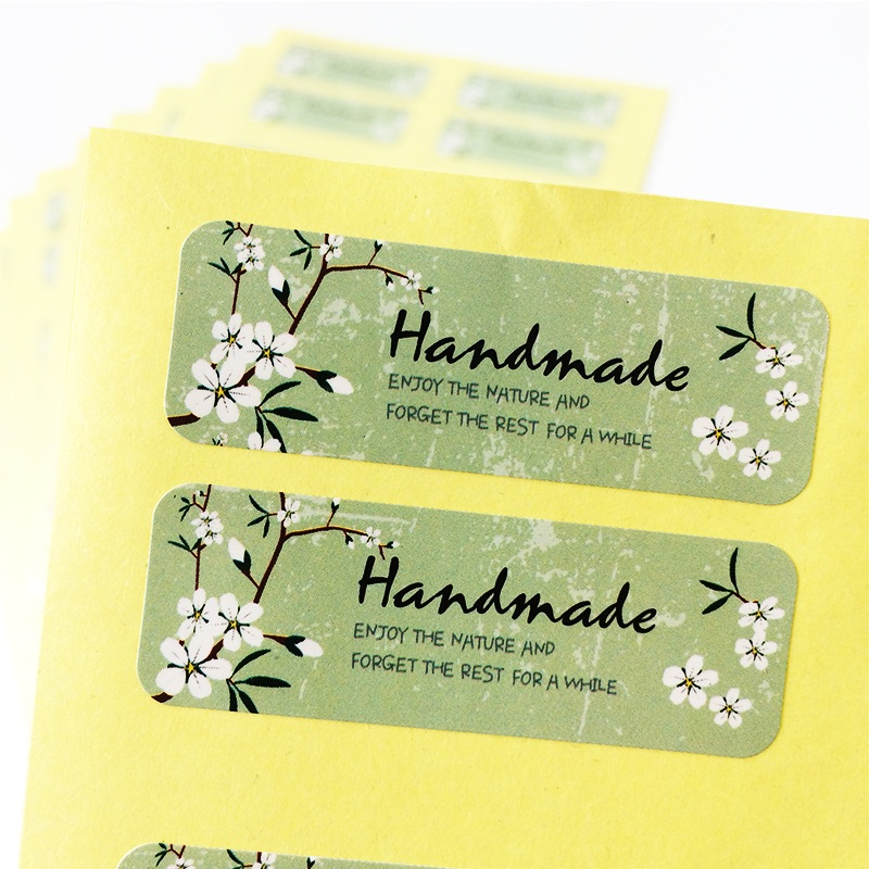 1200PCS/lot Fresh Style Flower Hand Made Seal Sticker High Quality Handmade Gift Label Sticker Wholesale