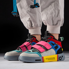 Hip Hop Mens Chunky Sneakers Hook Loop Shoes 700 Tenis Sapato Masculino Retro High Platform Basket Man Walking v2