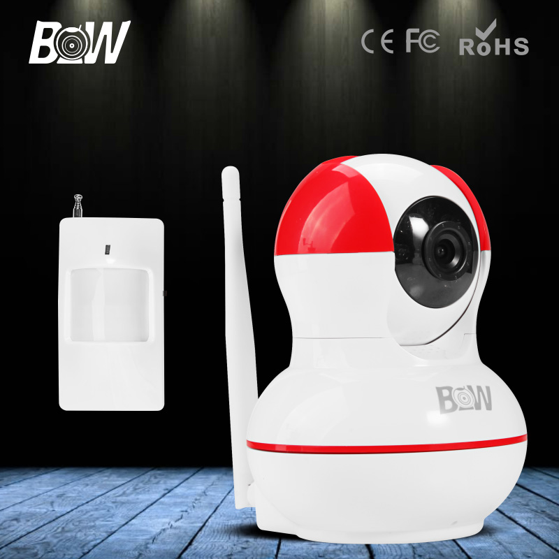 ФОТО BW Mini IP Camera P2P Wifi Wireless HD 720P 3.6mm Endoscope P/T Video Security Surveillance CCTV + Motion Sensor for iOS,Android