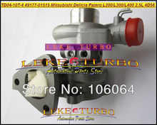 Turbo TD04 49177-01515 49177-01503 Turbocharger For Mitsubishi L300 4WD Delicia Pajero Shogun L200 L400 2.5L D 4D56 water cooled