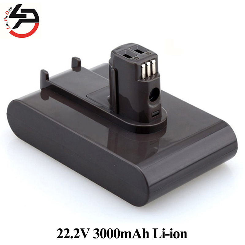 22.2V 3000mAh Li-ion Replacement Battery For Dyson Handheld Vacuum Cleaner DC31 DC34 DC35 DC44 DC45 917083-01 Type A high quality 2pcs new 21 6v 2800mah rechargable li ion battery for dyson v8 vacuum cleaner