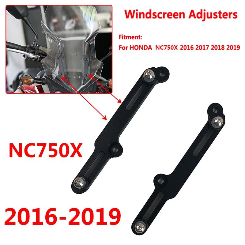 NC750X Motorcycle Windscreen Adjusters Airflow Adjustable Windscreen Wind For HONDA NC 750X NC750 X XD/XA 2016 2017 2018 2019