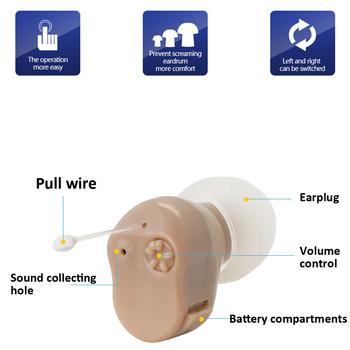 Mały rozmiar aparat słuchowy ucho wewnętrzne niewidoczne aparaty słuchowe regulowane bezprzewodowe aparaty słuchowe wzmacniacz dźwięku do ucha lewego prawego opcjonalnie tanie i dobre opinie AXON Ear Hearing Aid fleshcolor 200-3000 hz 1 5V 1 * A10 battery 12 * 12 * 18 mm 0 47 * 0 47 * 0 71in 3g 0 11oz