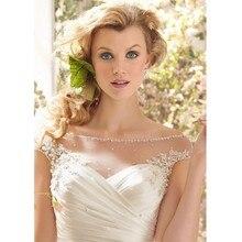 Romantic ELegant Cheap Lace Mermaid Wedding Dresses 2017 Sheer Sequins Appliques Vestidos de novia de renda With Buttons Pleats