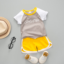 Baby Boy Summer Letter Clothes Set 2019 New Short Sleeve Shirt Boys Suit For Kids