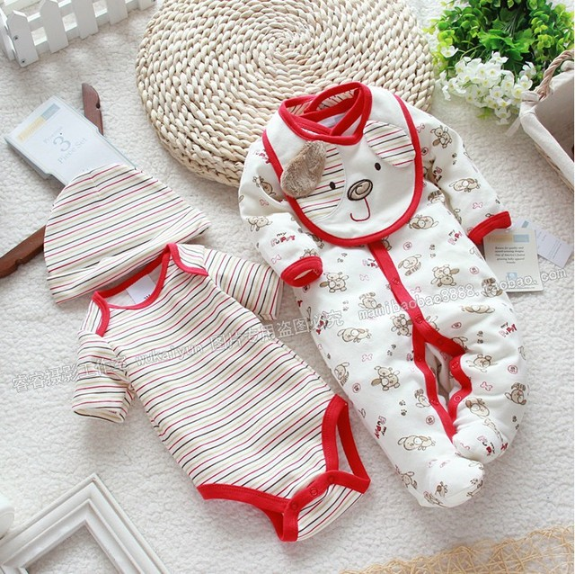 The newborn baby and Jumpsuit ha clothes other four piece set baby climb clothes BODYSUITChildren's denim brand baby suit