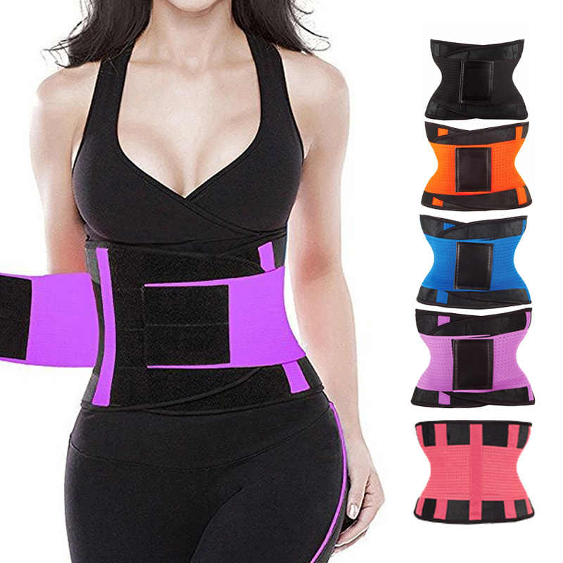 36b6ba2c4c574 Waist Trainer Body Shapers Slimming Belt Corset Women Postpartum Shapers  Fitness Modeling Strap Workout Shapewear Tummy