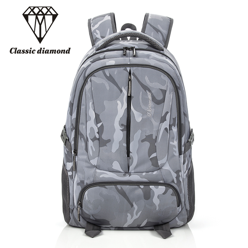 Classic Diamonds Youth School Backpack For Teenage Girl And Boys Large Capacity Waterproof Nylon Travel Bags Casual Men Backpack