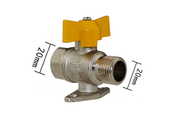 free shipping 2pieces/lot  Stainless steel Aluminum Shut-Off Valve