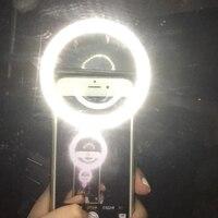 Litwod teléfono móvil portátil con Clip lámpara selfi led anillo belleza Flash de relleno lente lámpara de luz para cámara de fotos para teléfono celular