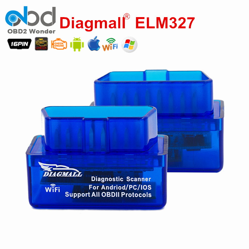 Prix pour Diagmall Mini WiFi ELM327 OBD2 Scanner OBDII Outil Adaptateur ELM 327 wifi code de la panne lecteur pour ios iphone ipad et Android