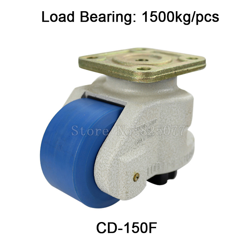 цены 4PCS Levelling Adjusted Nylon Support Industrial Casters Wheels CD-150F 1500kg for Machine Equipment Castors Wheels JF1601