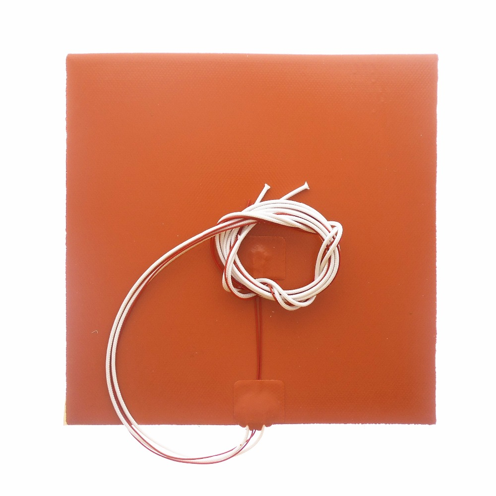 DuoWeiSi 3D Printer Parts 22x22CM Heatbed 220V 250W / 12V 250W Thermostor Silicone Heater Pad 220*220mm Heat Bed